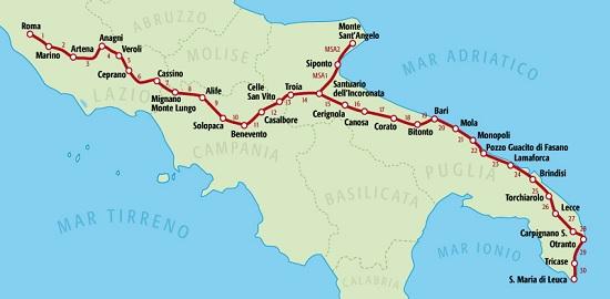 La via francigena del Sud a Fossano