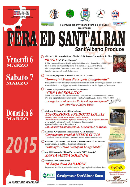 Fera ed Sant'Alban 2015 a Sant'Albano Stura