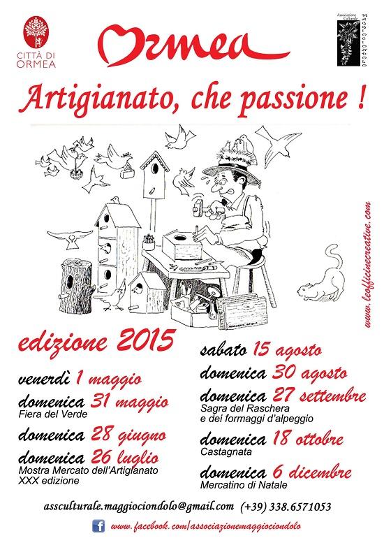 Artigianato, che passione! 2015 a Ormea