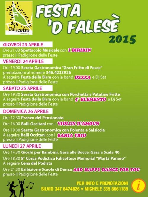 Festa 'd Falesè 2015 a Falicetto di Verzuolo