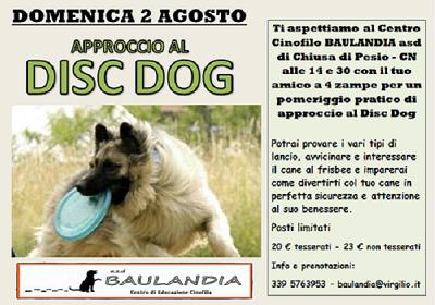 APPROCCIO AL DISC DOG