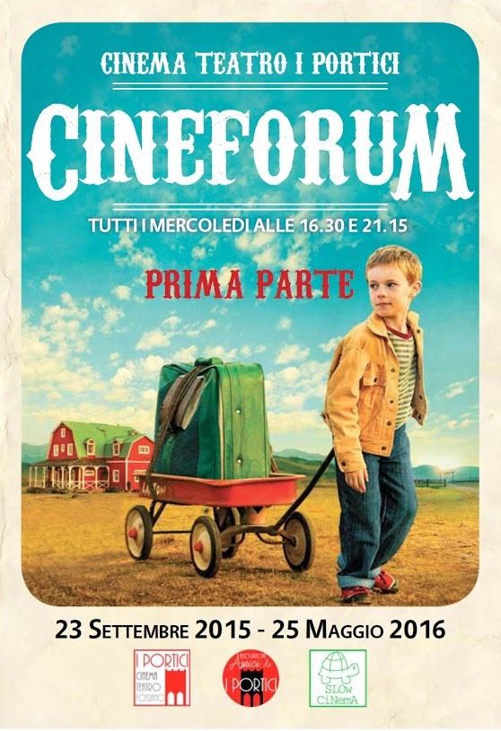 Cineforum 2015/2016 al Cinema Teatro I Portici di Fossano