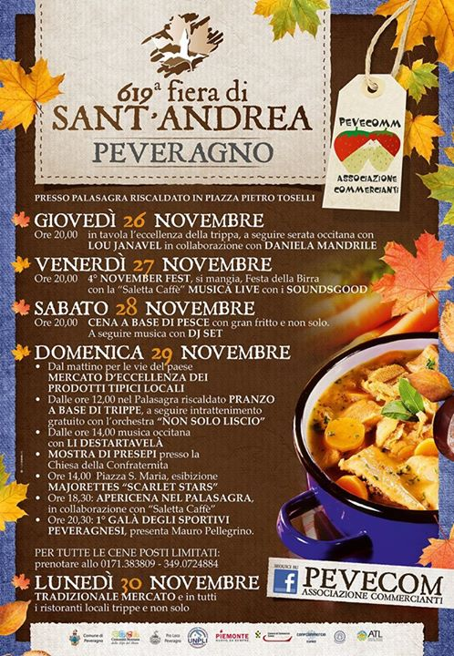 Fiera di Sant'Andrea 2015 a Peveragno