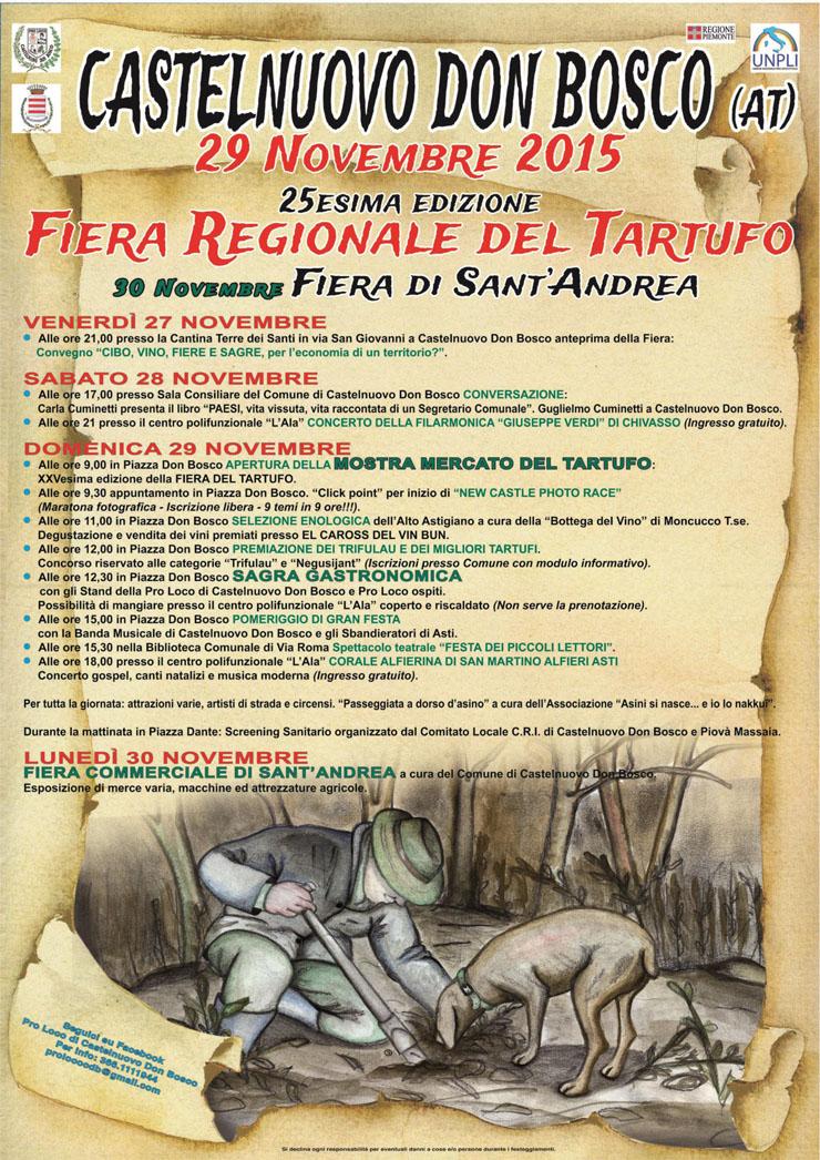 Fiera del Tartufo - Fiera di Sant'Andrea 2015 a Castelnuovo Don Bosco