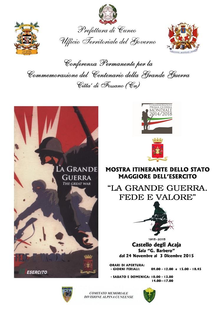 """""""La Grande Guerra. Fede e valore"""": mostra a Fossano"""