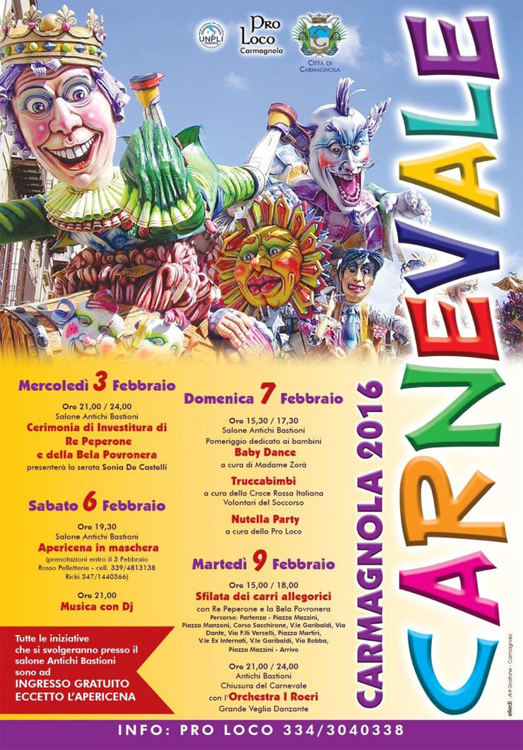 Carnevale di Carmagnola 2016