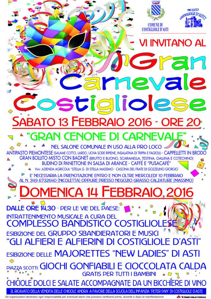 Carnevale di Costigliole d'Asti 2016