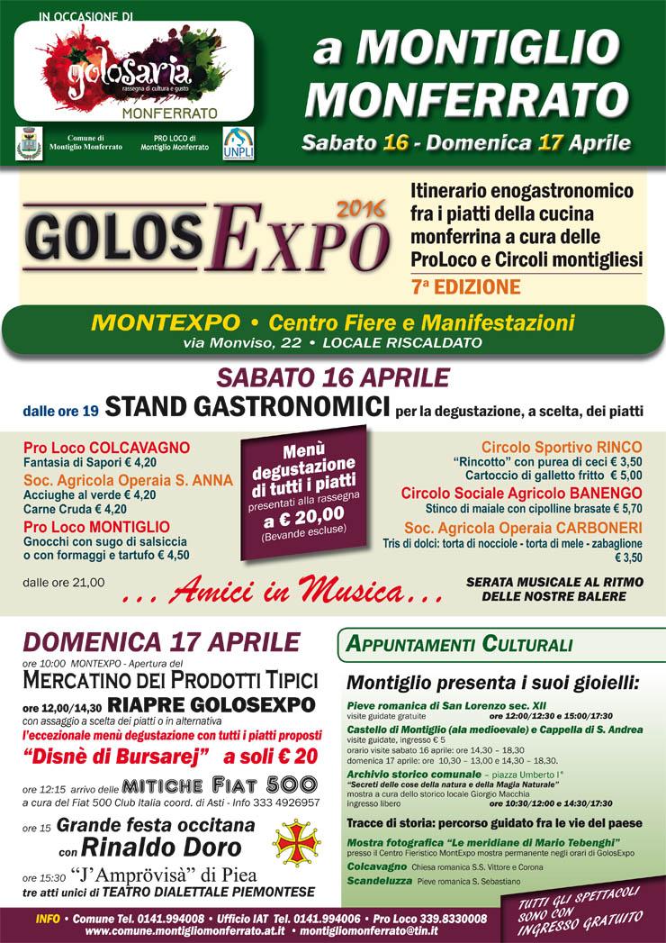 Golosexpo 2016 a Montiglio Monferrato