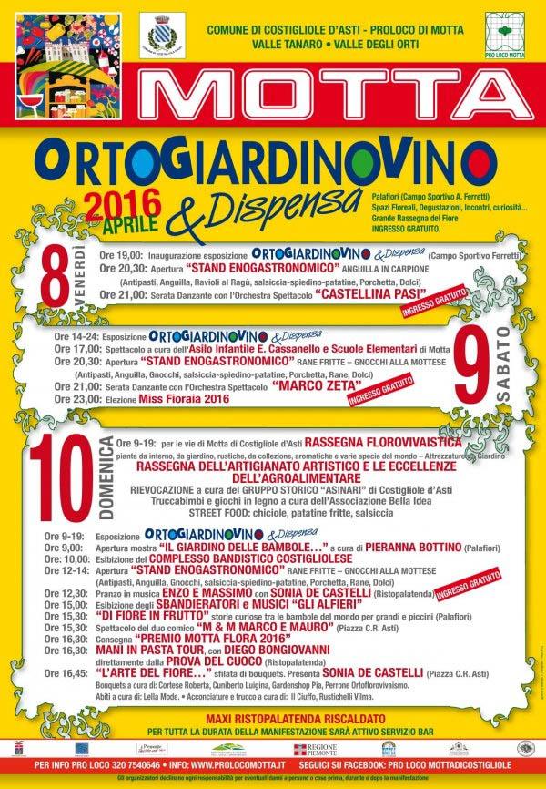 Ortogiardinovino e Dispensa 2016 a Costigliole d'Asti