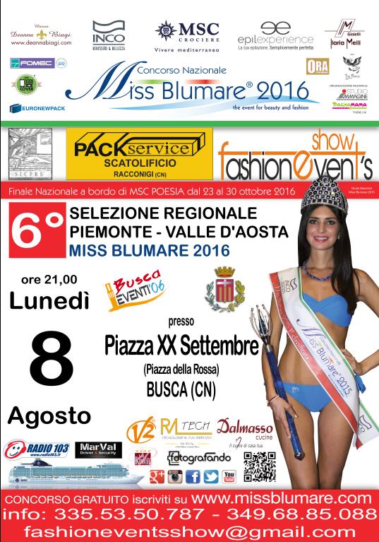 Miss Blumare 2016 a Busca