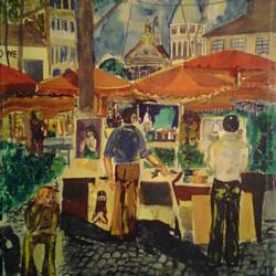 Acquarello su carta A4 Montmartre
