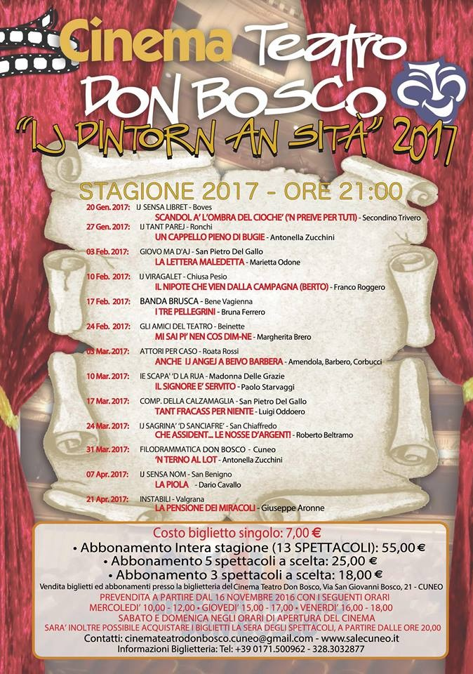 Ij dintorn an sità al Teatro Don Bosco di Cuneo