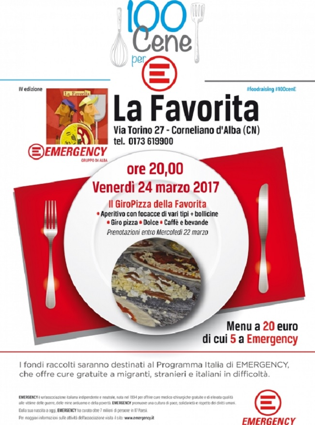 100 Cene per Emergency a Corneliano d'Alba