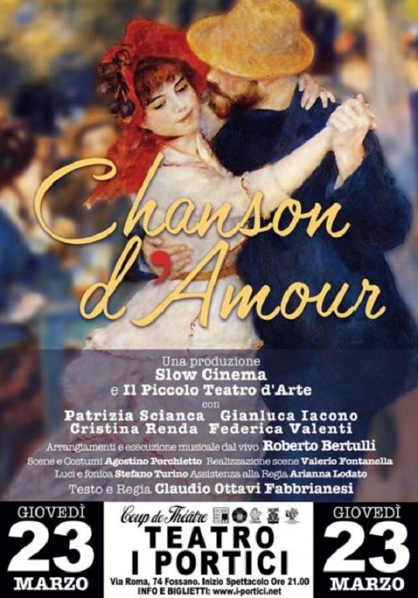 Chanson d'Amour al Teatro I Portici di Fossano