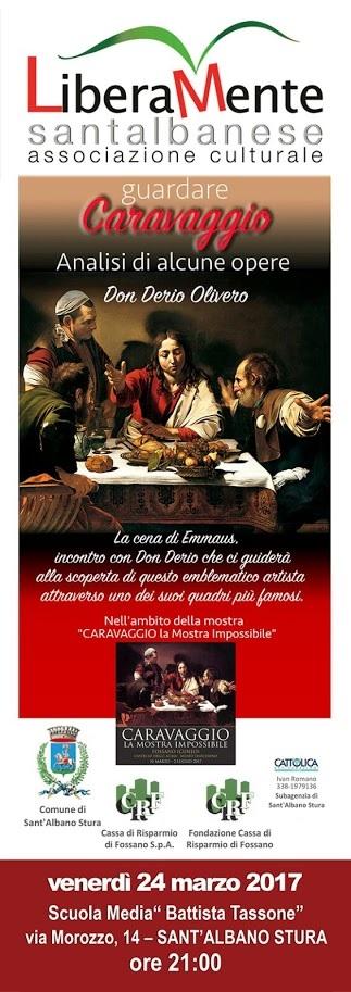 Guardare Caravaggio con Don Derio Olivero a Sant'Albano Stura