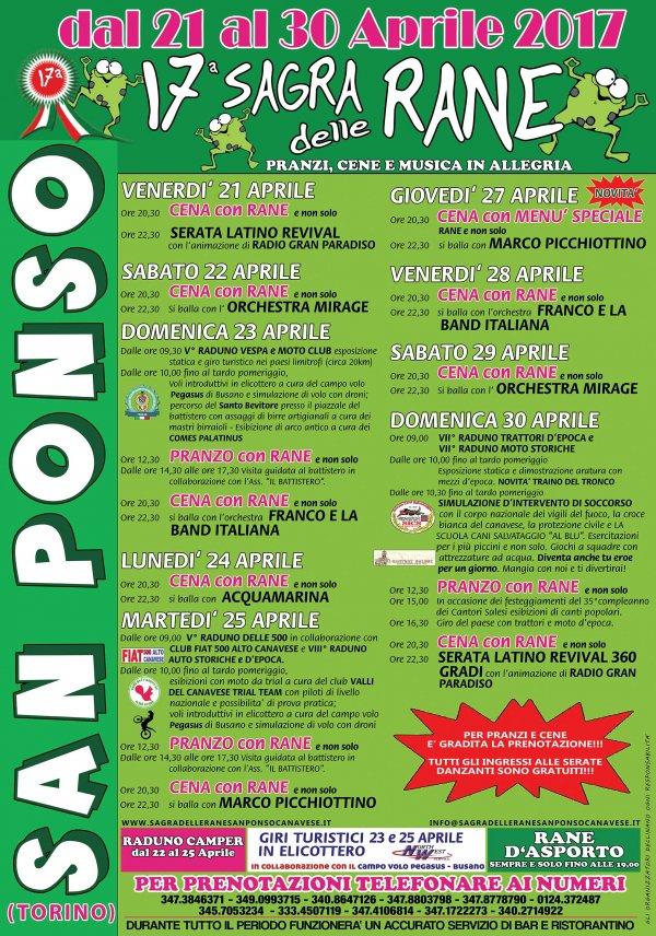 Sagra delle Rane 2017 a San Ponso