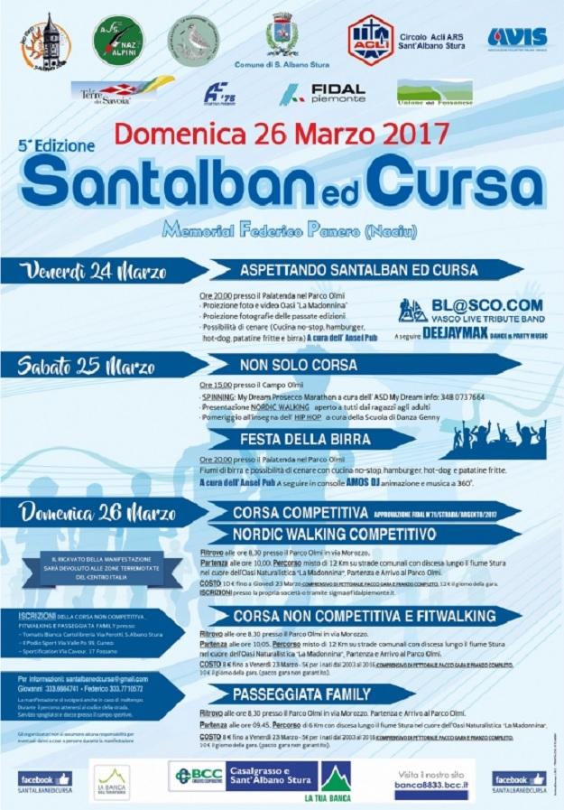 Santalban ed Cursa 2017 a Sant'Albano Stura