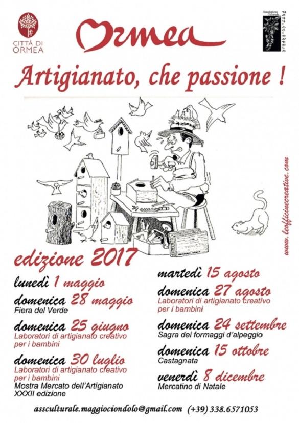 Artigianato, che passione 2017 a Ormea
