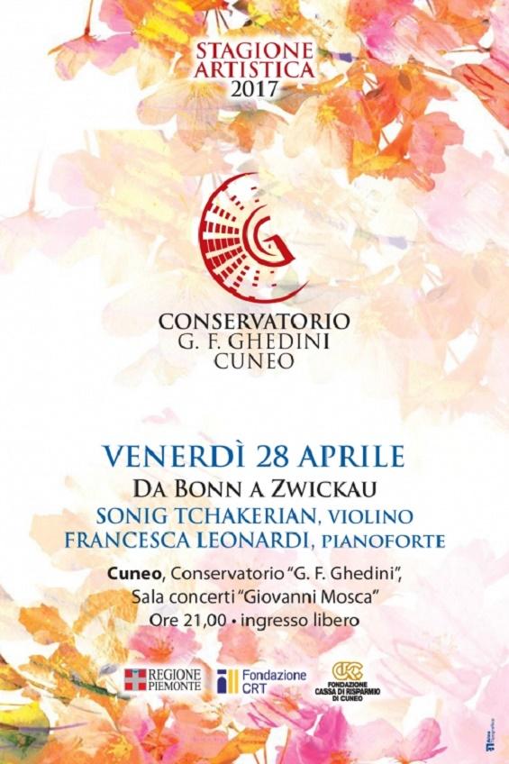 "Concerto ""Da Bonn a Zwickau"" a Cuneo"