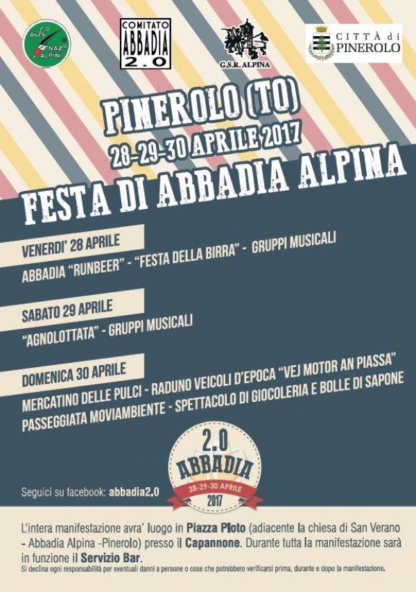 Festa di Abbadia Alpina 2017 a Pinerolo