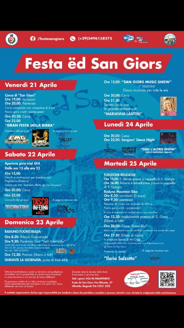 Festa ed San Giors 2017 a Bagnolo Piemonte