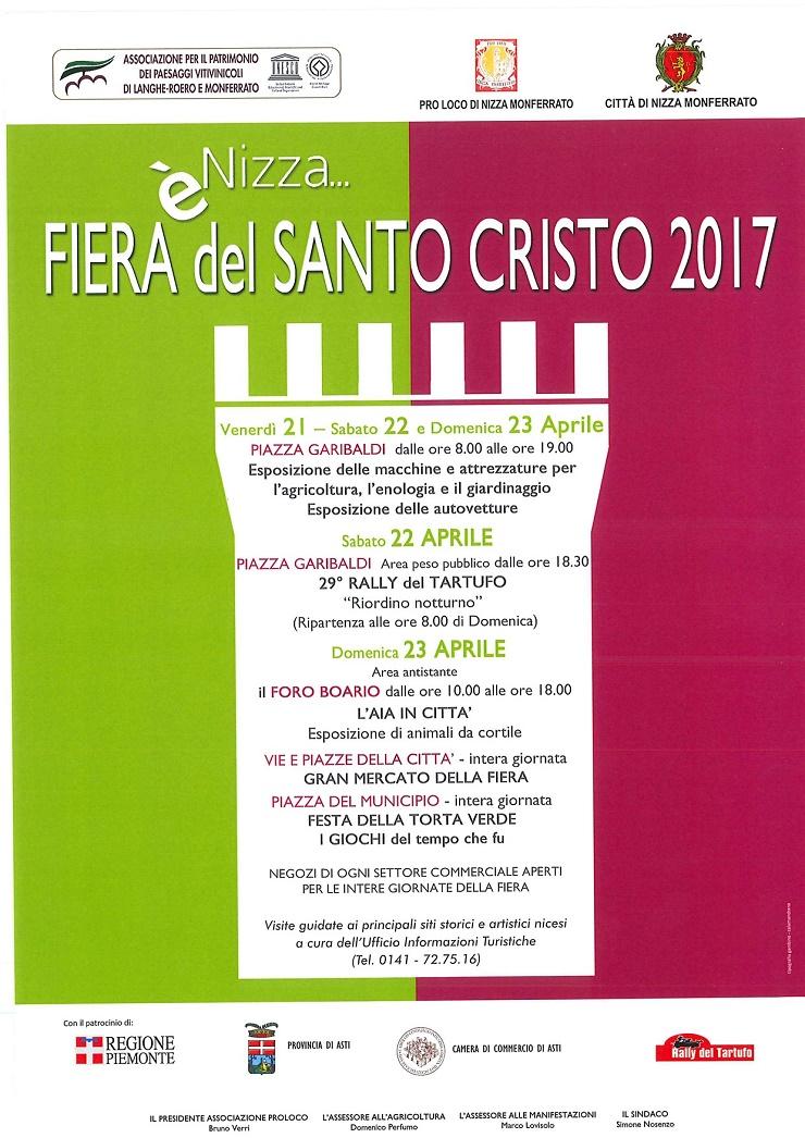 Fiera del Santo Cristo 2017 a Nizza Monferrato