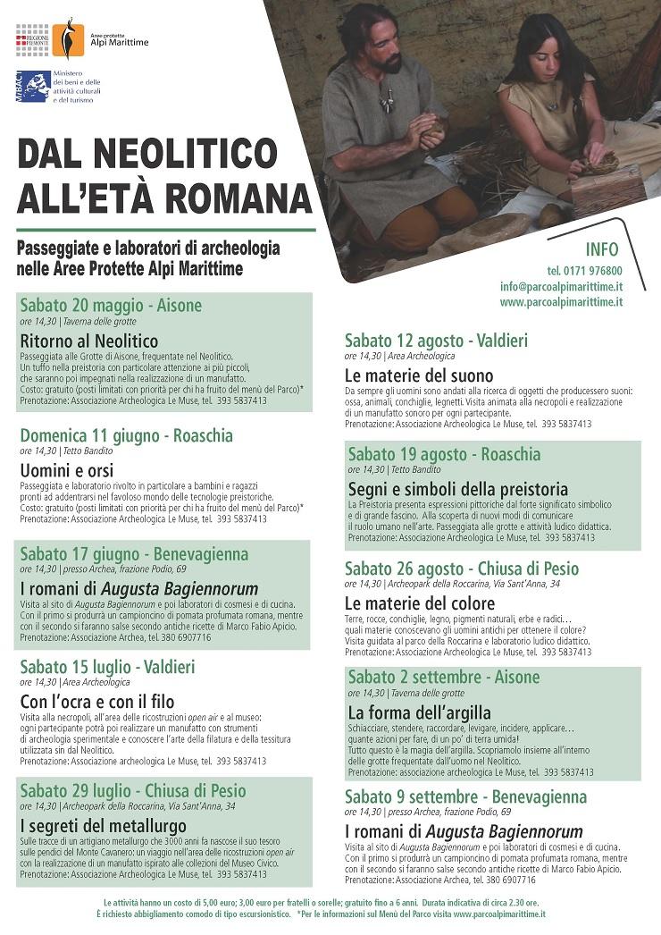 Dal neolitico all'età romana in provincia di Cuneo