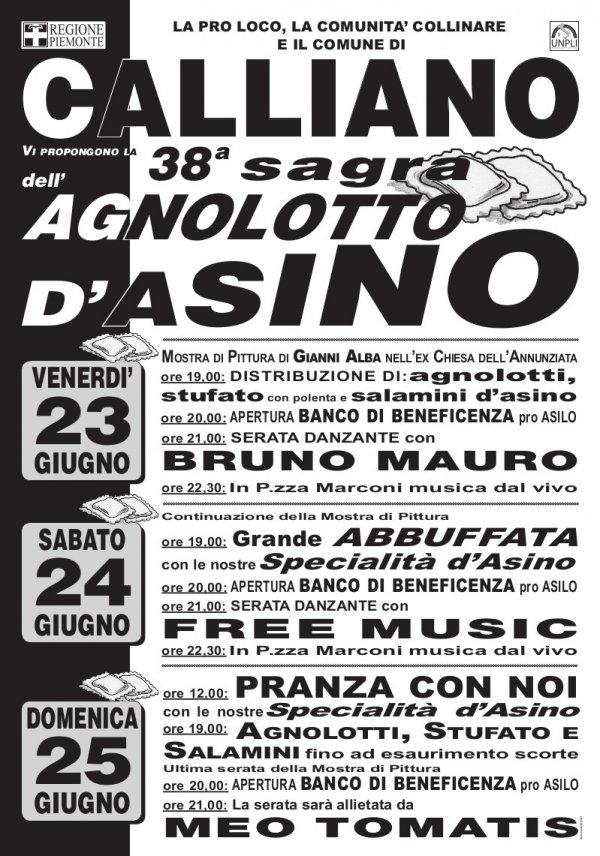 Sagra dell'agnolotto d'asino 2017 a Calliano