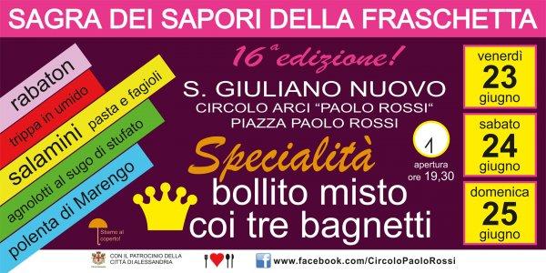 Sagra dei Sapori della Fraschetta 2017 a San Giuliano Nuovo