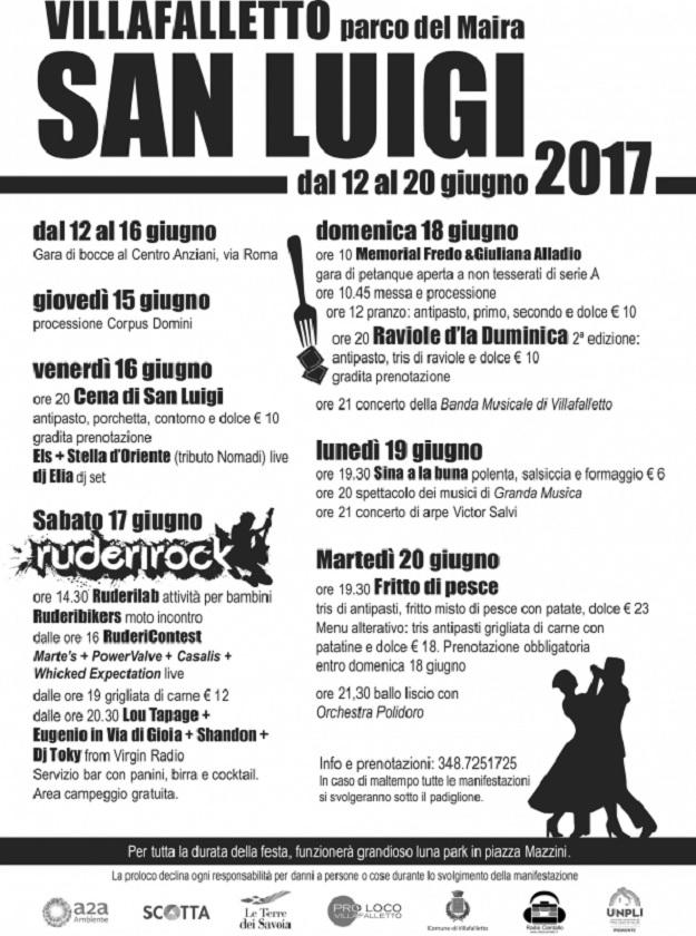Festa patronale di San Luigi 2017 a Villafalletto