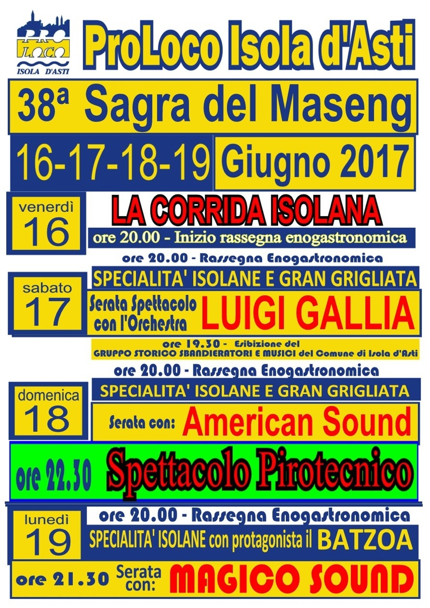 Sagra del Maseng 2017 a Isola d'Asti