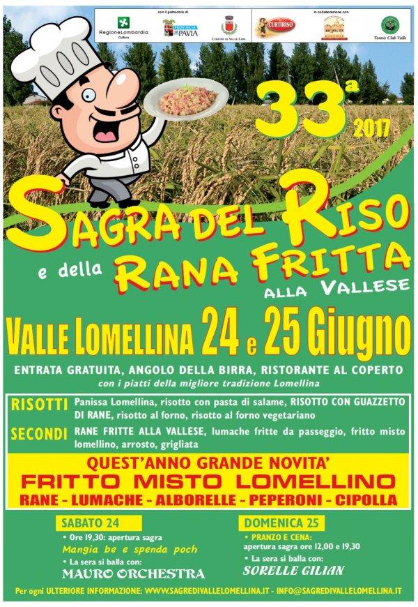 Sagra del Riso e della Rana Fritta 2017 a Valle Lomellina