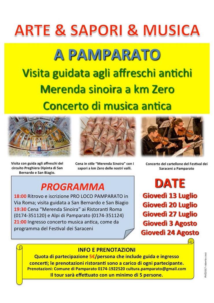 Arte & Sapori & Musica 2017 a Pamparato