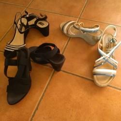 Sandali €60 - Saluzzo Cedo 3 paia di sandali quelli...