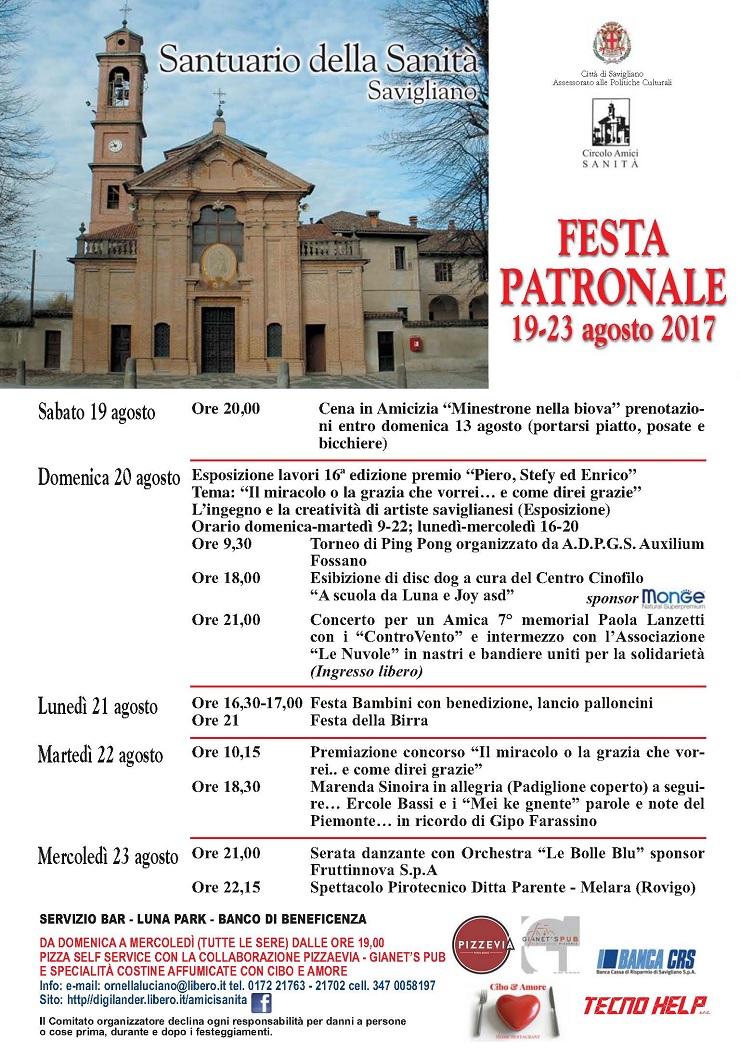 Festa della Sanità 2017 a Savigliano