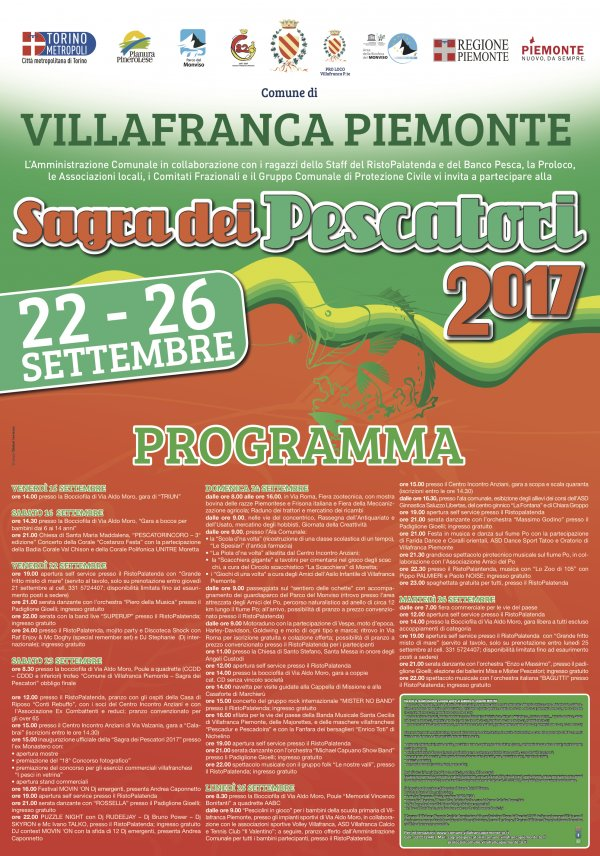 Sagra dei Pescatori 2017 a Villafranca Piemonte