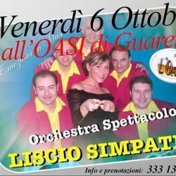 Questa sera all'OASI - LISCIO SIMPATIA!