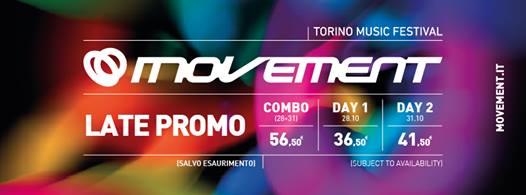8Sabato 28 e Martedì 31 Ottobre 2017 MOVEMENT TORINO MUSIC...