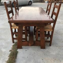 Tavolo in quercia restaurato. €600 - Madonna Pilone CHERASCO! Tavolo...