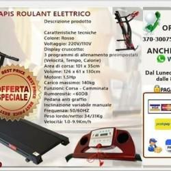 Tapisroulant €1 - Fatamorgana CARDIO FITNESS POWER ALLENAMENTO INCLINABILE CORSA...