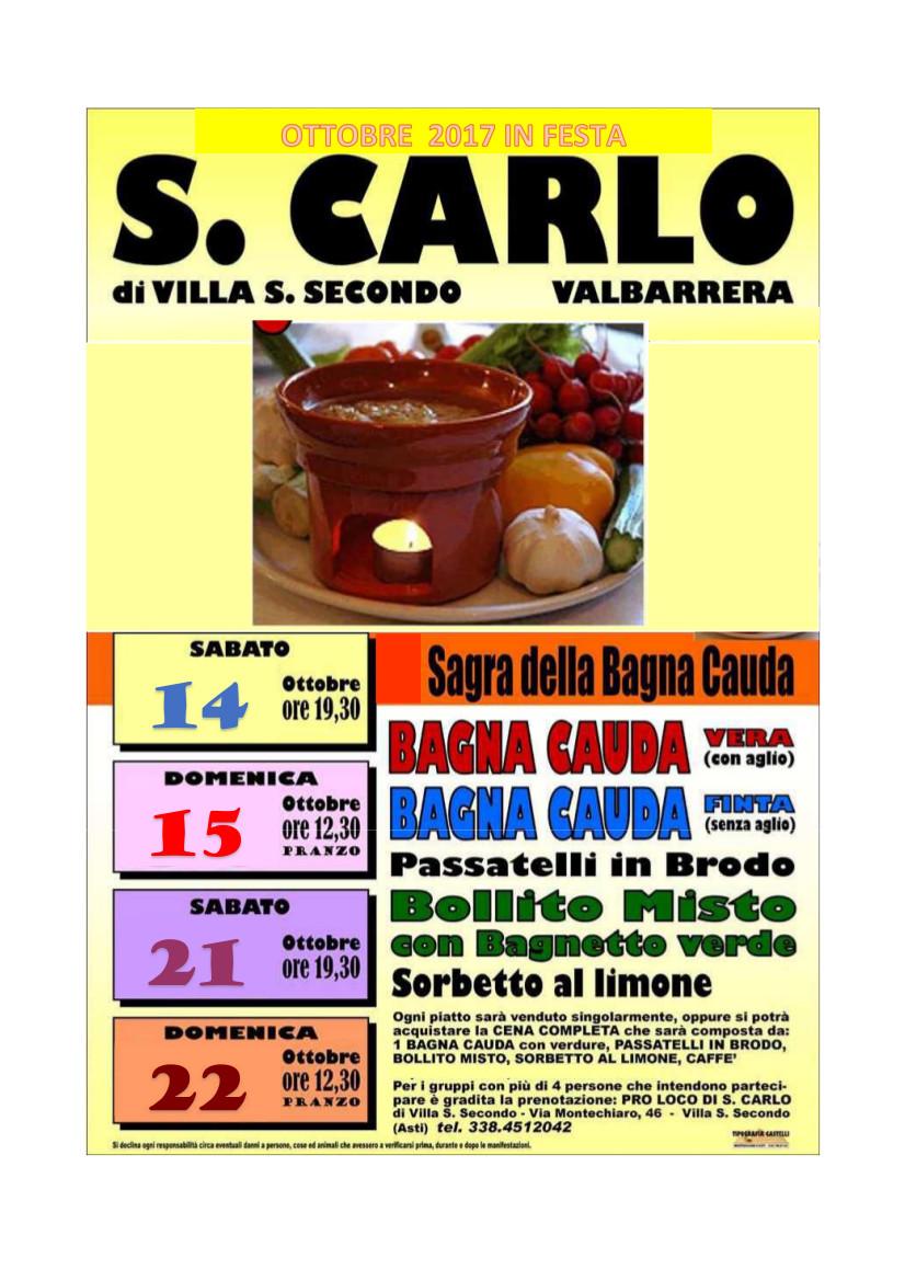 Sagra della Bagna Cauda 2017 a San Carlo di Villa San Secondo