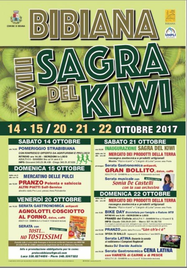 Sagra del Kiwi 2017 a Bibiana