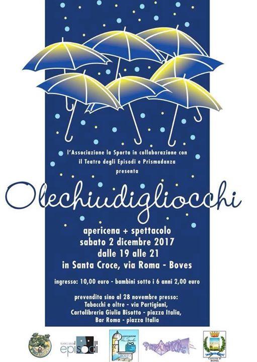 """Apericena+ Spettacolo teatrale """"Olechiudigliocchi"""""""