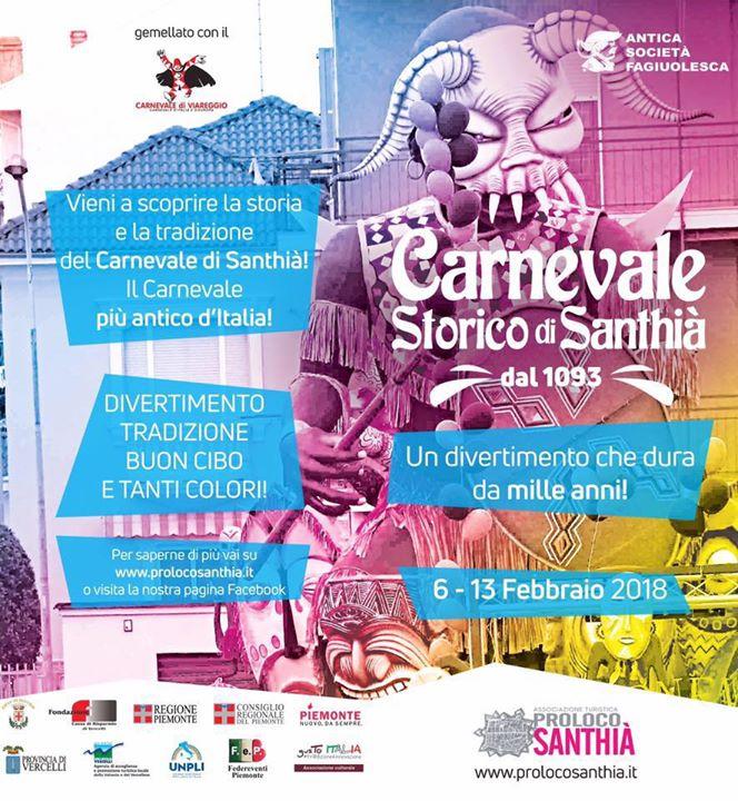 Programma Carnevale Storico 2018
