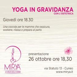 A MIRYA lo yoga in Gravidanza si fa con l'ostetrica....
