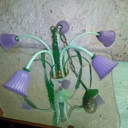 Lampadario colorato artigianle €70 - Tuscania VENDO UN BELLISSIMO LAMPADARIO...