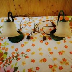 Coppia di lampade antiche €60 - Tuscania A SOLI 60...