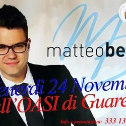 Questa sera all'OASI MATTEO BENSI !!!!