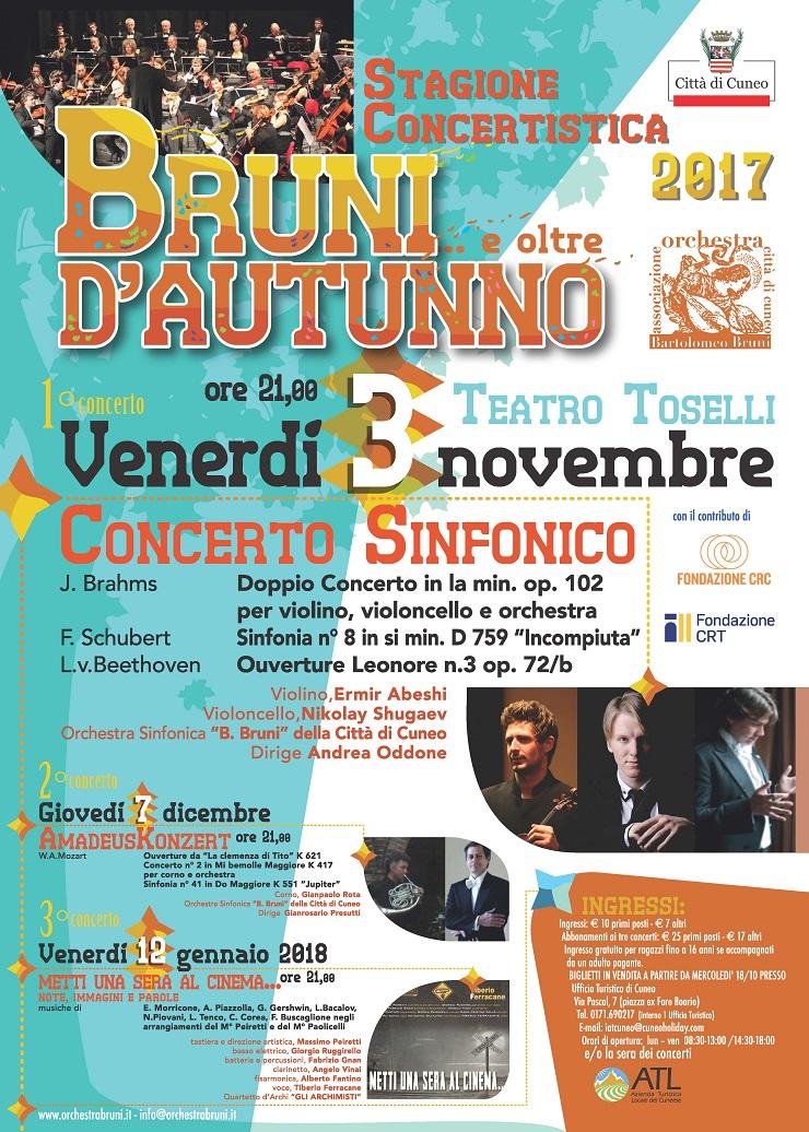 Bruni d'Autunno 2017... e oltre al Teatro Toselli di Cuneo