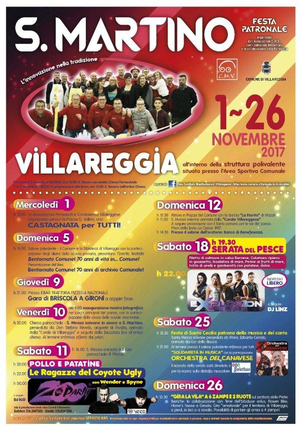 Festa patronale di San Martino 2017 a Villareggia